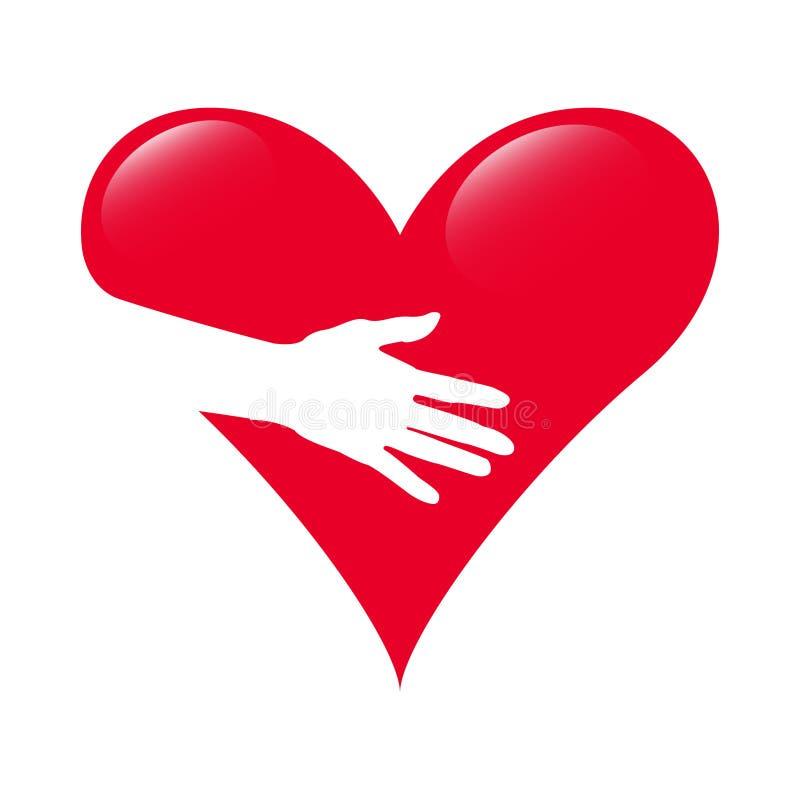 Logo négatif de conception de vecteur d'espace d'amour créatif illustration de vecteur