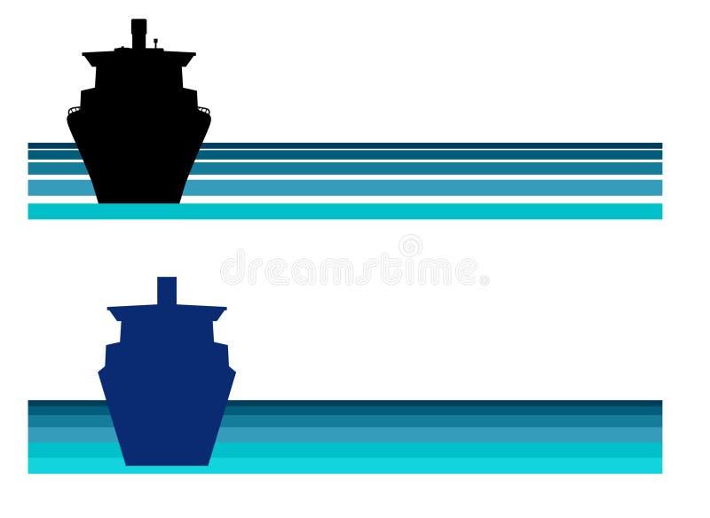 logo na rejs royalty ilustracja