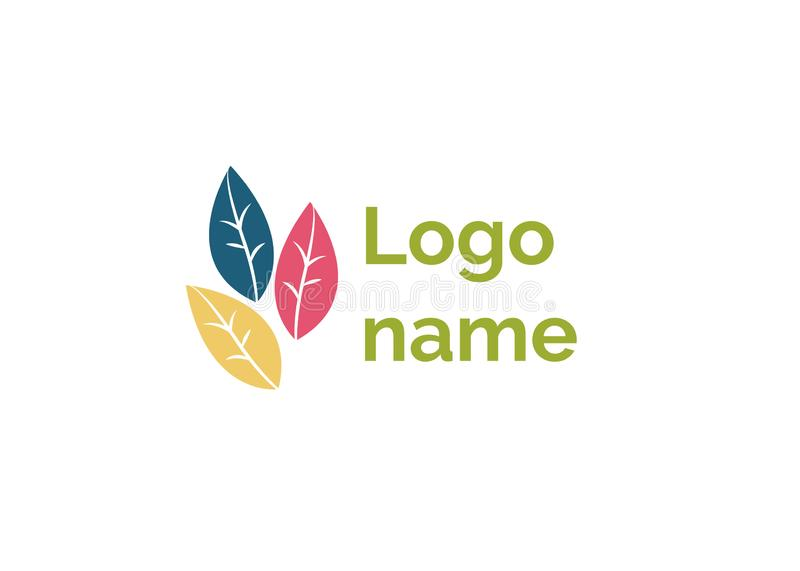 Logo Name design av korporationslogotypsymbolen vektor illustrationer