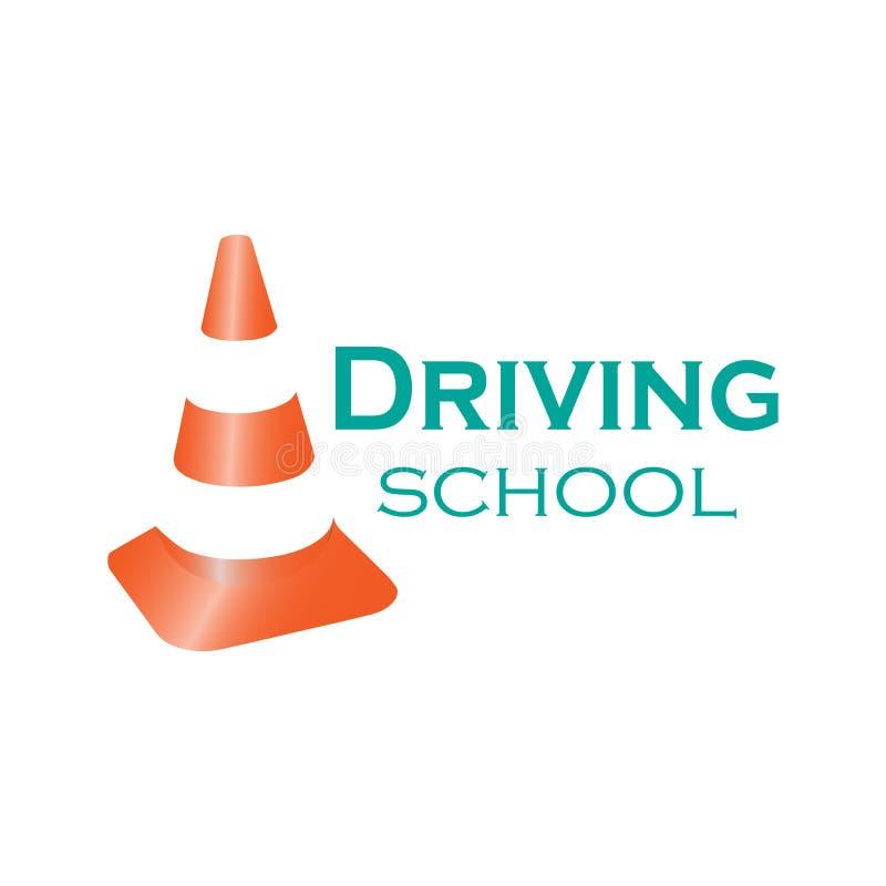 Logo napędowa szkoła ilustracja wektor