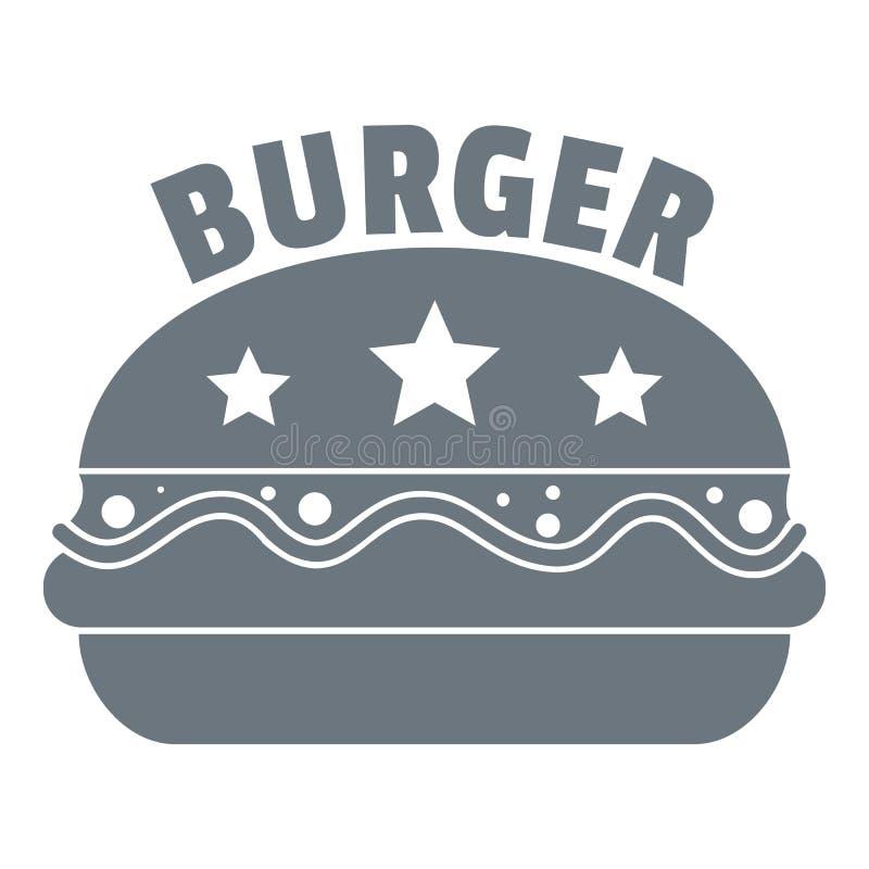 Logo national d'hamburger, style gris simple illustration stock