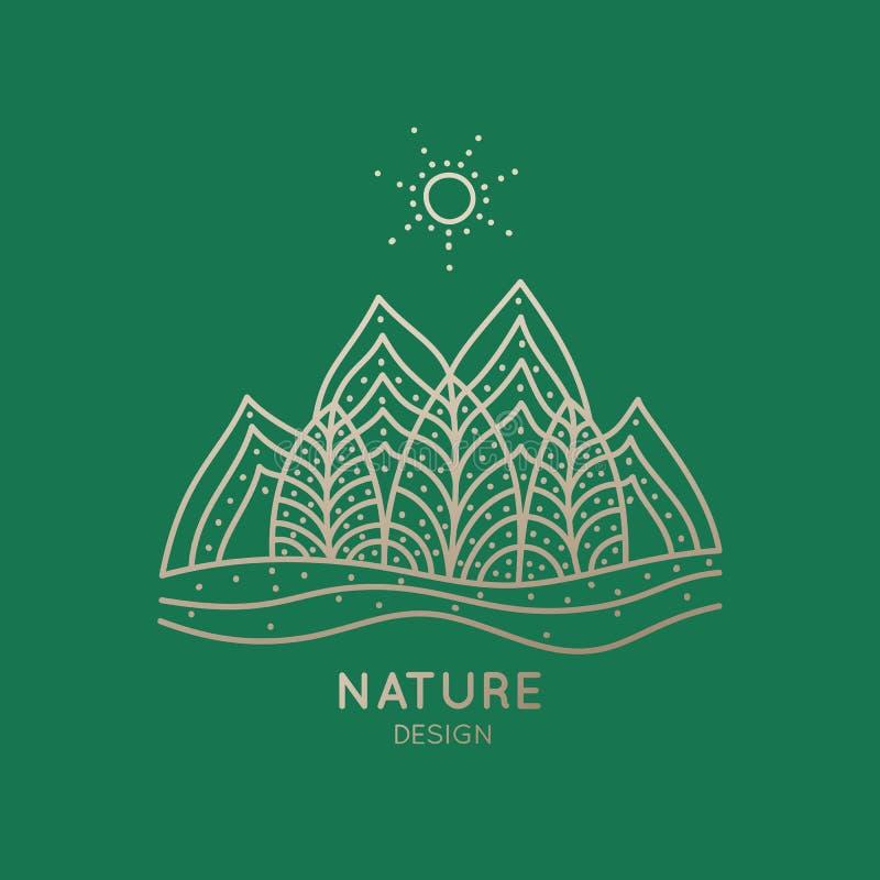 Logo natura royalty ilustracja