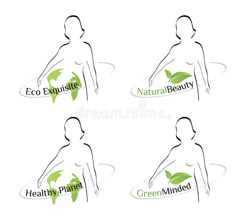 Logo - Natural. A set of images suitable for presentation of natural products, environmentally friendly vector illustration