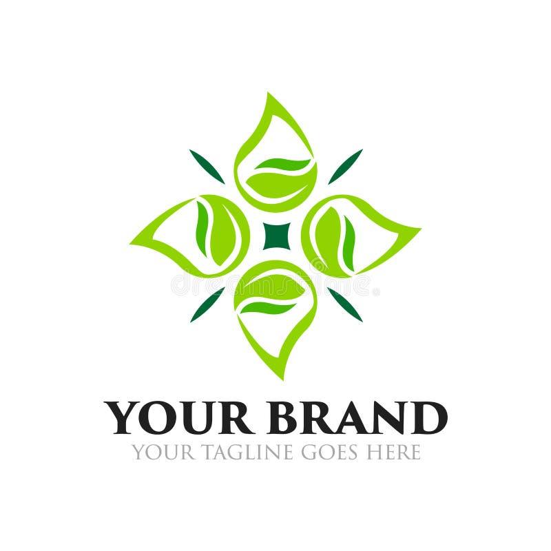 Logo naturale, sano e di goccia della foglia, dell'acqua - vettore royalty illustrazione gratis