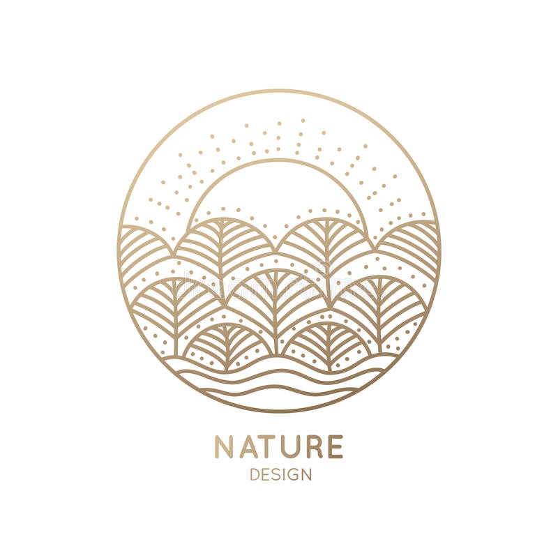 Logo Nature vektor illustrationer