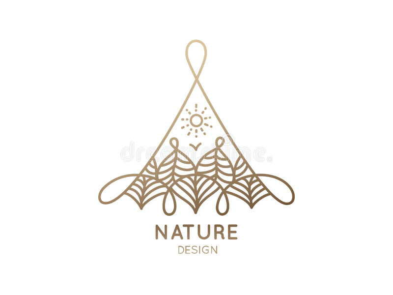 Logo Nature stock illustrationer