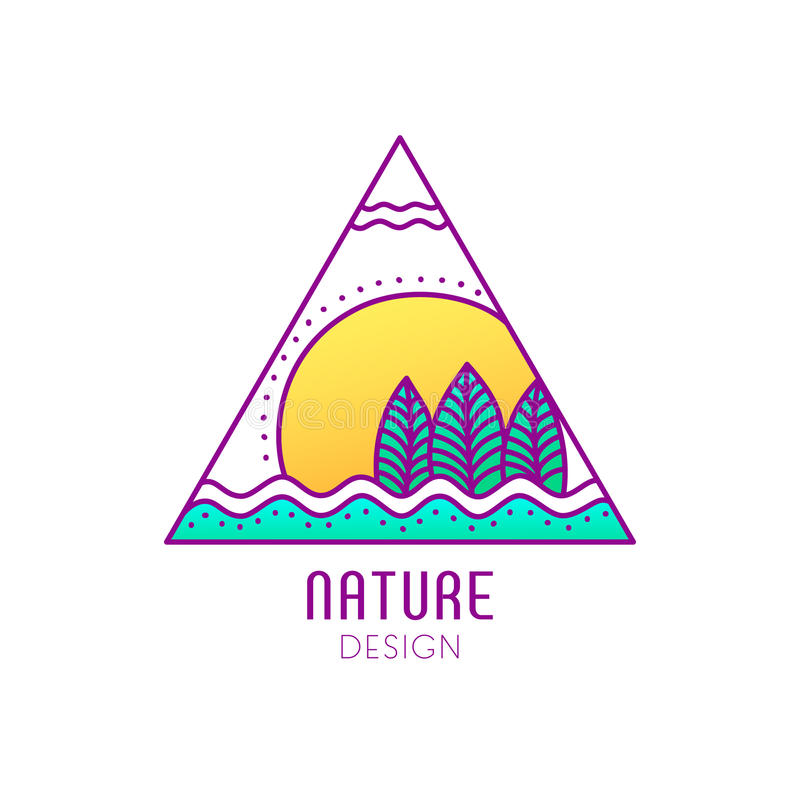 Logo nature stock illustration