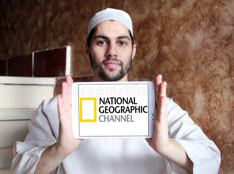 Logo nazionale del canale geografico fotografie stock