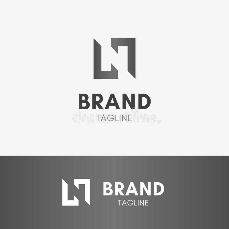 Logo negativo dello spazio della lettera N illustrazione di stock