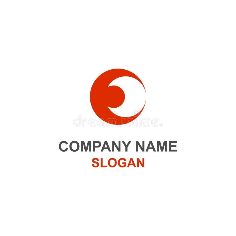 Logo negativo dello spazio della luna di iniziale della lettera di E illustrazione vettoriale