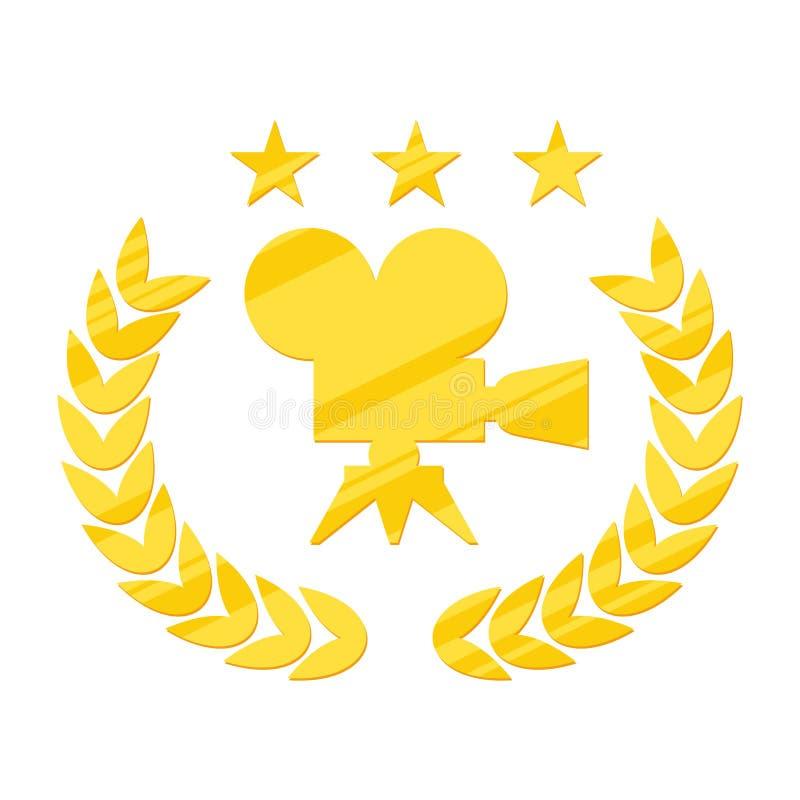 Logo nero di festival cinematografico illustrazione vettoriale