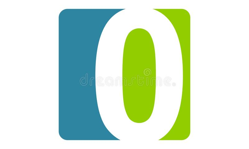 Logo Number moderno 0 ilustração royalty free