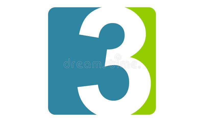 Logo Number moderno 3 ilustração stock