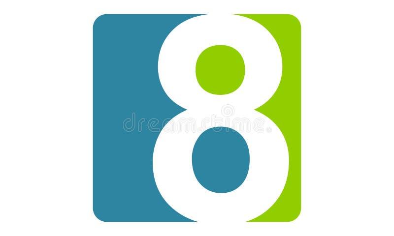 Logo Number moderno 8 ilustração do vetor
