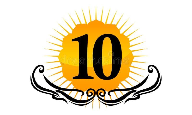 Logo Number moderno 10 ilustração do vetor