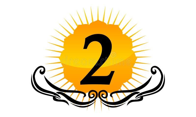 Logo Number moderno 2 ilustração stock