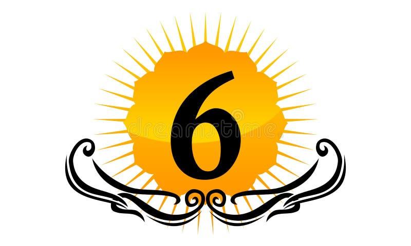 Logo Number moderno 6 ilustração royalty free