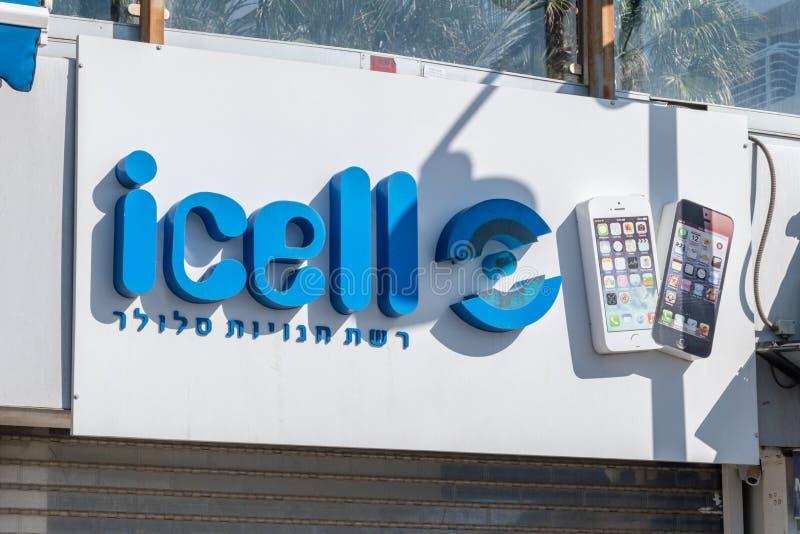 Logo och tecken av icell royaltyfria foton