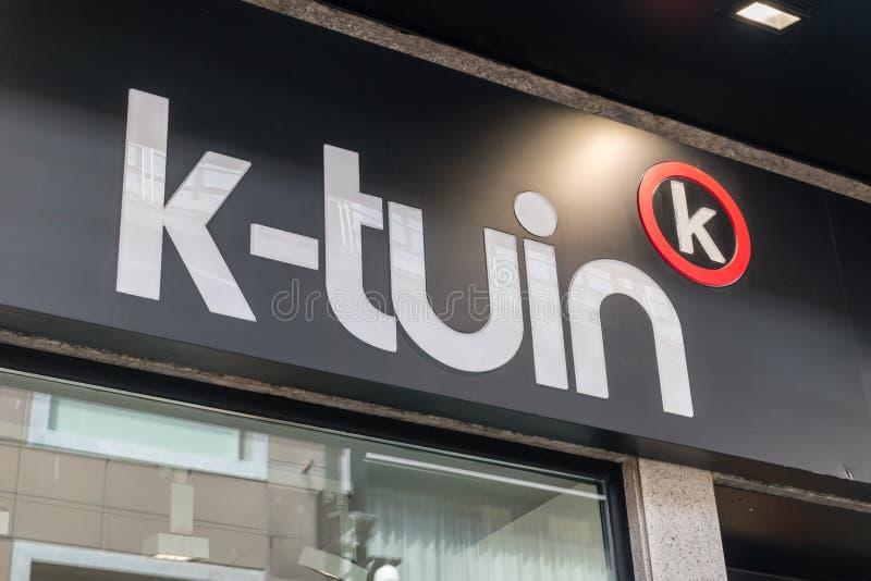 Logo och tecken av K-Tuin royaltyfria foton