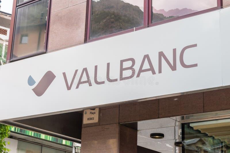 Logo och tecken av Vallbanc royaltyfri bild