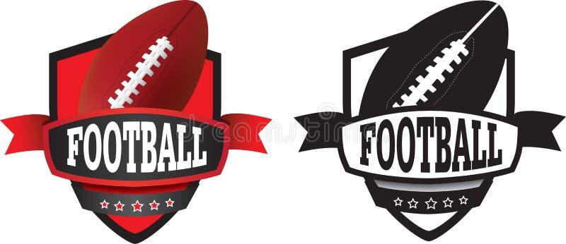 Logo oder Ausweis des amerikanischen Fußballs vektor abbildung