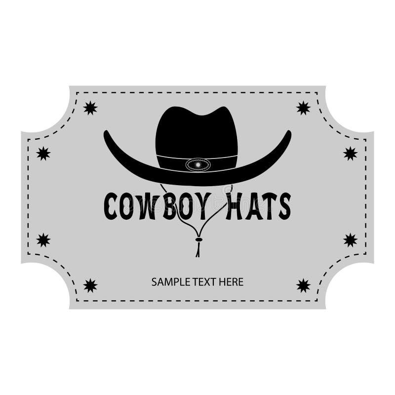 Logo oder Fahne von Cowboyhüten lizenzfreies stockbild