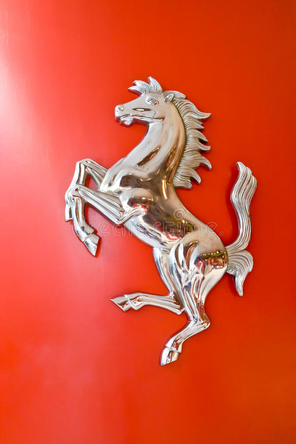 Free Logo Of Ferrari Horse On A Cowl Royalty Free Stock Photos - 12926128