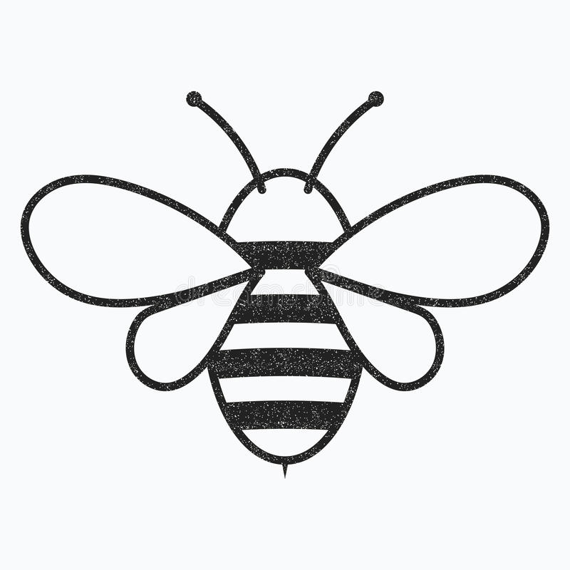 Free Logo Of The Bee. Black And White Bee Icon. Vector Illustration With Scabs. Insect. Stock Photography - 96839952