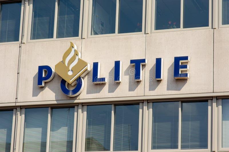 Logo olandese della polizia immagine stock