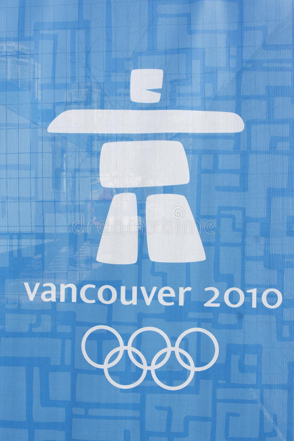 Logo Olympic Vancouver Redaktionell Foto