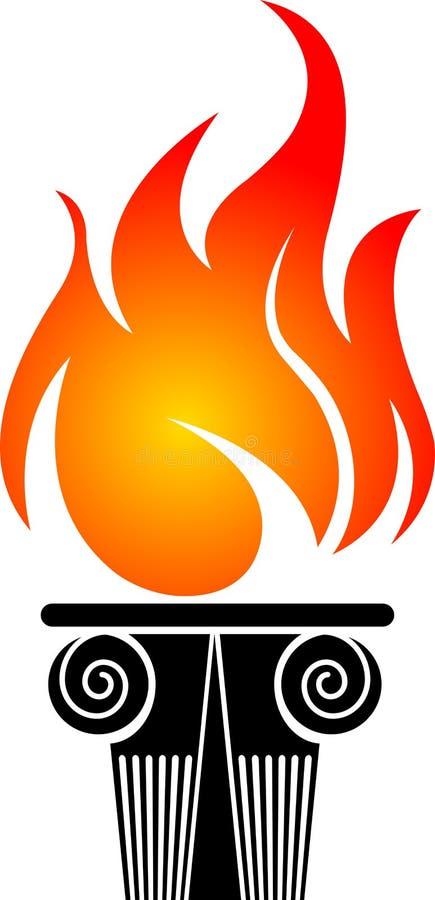 Logo olympique illustration de vecteur