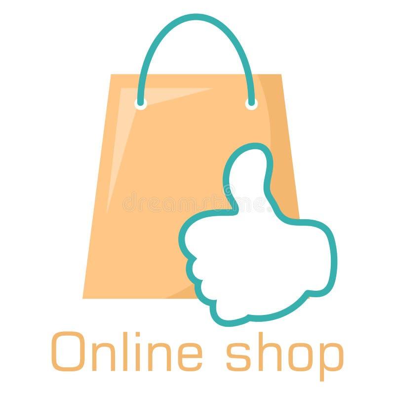 Logo online del negozio royalty illustrazione gratis