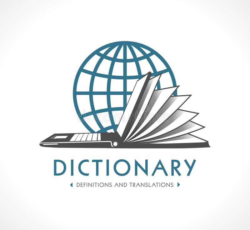 Logo - Online dictionary concept royalty free illustration
