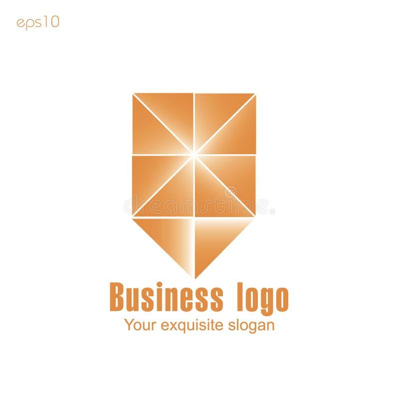 Logo orange d'affaires sur le fond blanc pour la conception illustration de vecteur