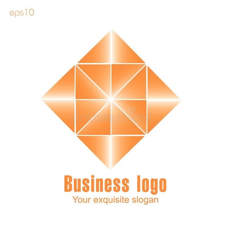 Logo orange d'affaires sur le fond blanc pour la conception illustration libre de droits