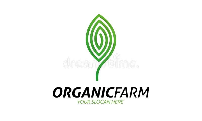 Logo organico dell'azienda agricola illustrazione di stock