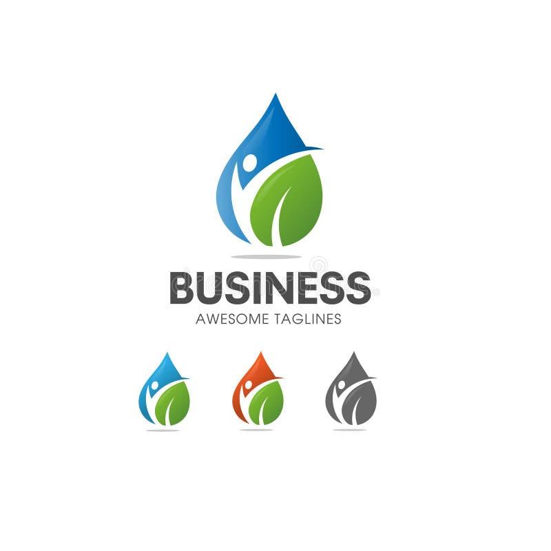 Logo organique de nutrition et de régime de nourriture biologique illustration de vecteur