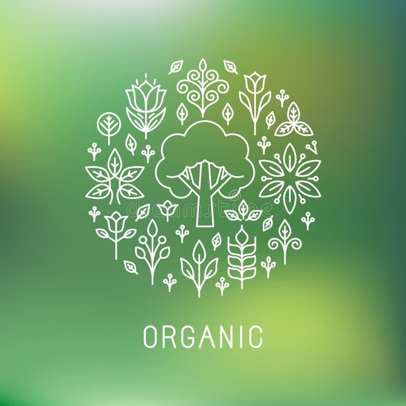 Logo organique de vecteur illustration de vecteur