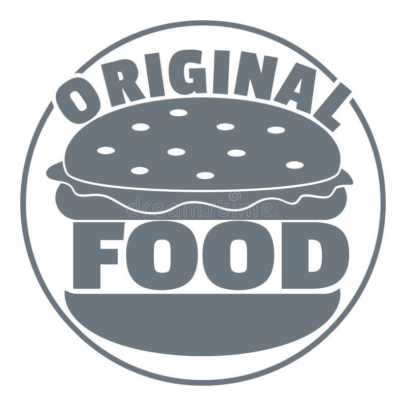 Logo original d'hamburger, style gris simple illustration de vecteur