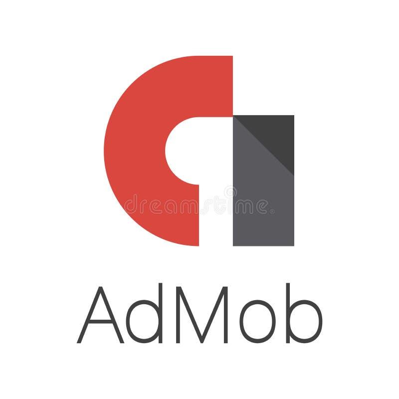 Logo originale del admob per l'inserzionista e l'editore illustrazione vettoriale