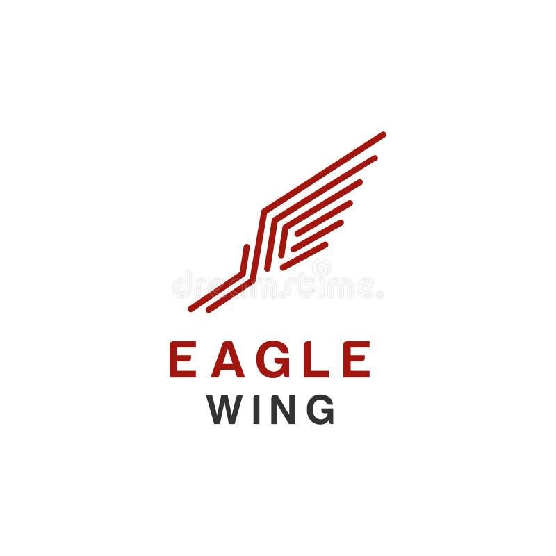 Logo ou faucon d'Eagle, oiseau, symbole de Phoenix et style de luxe d'icône illustration de vecteur
