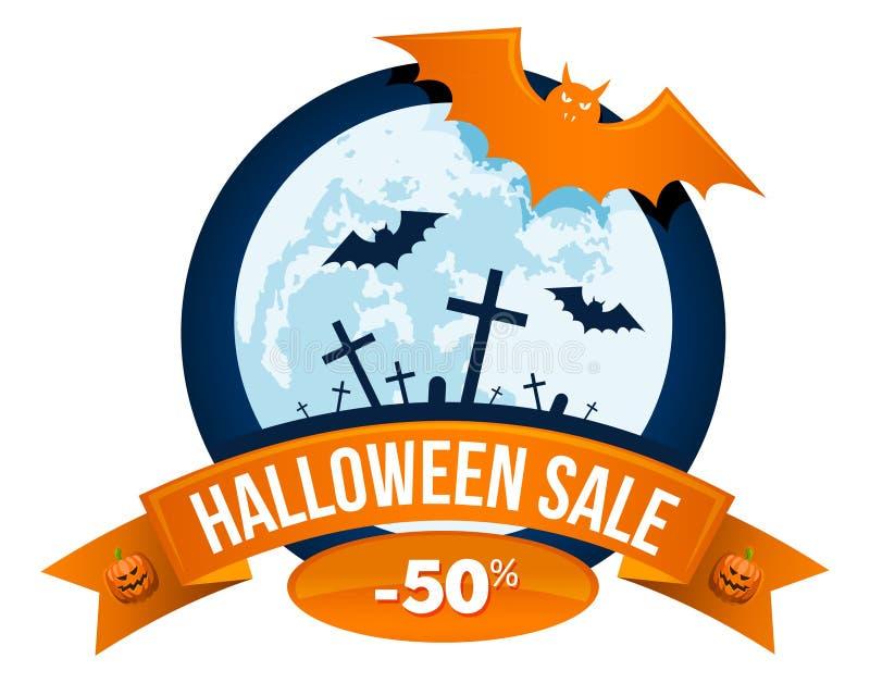 Download Logo Ou Label De Vente De Halloween Illustration de Vecteur - Illustration du collant, décoration: 77161228