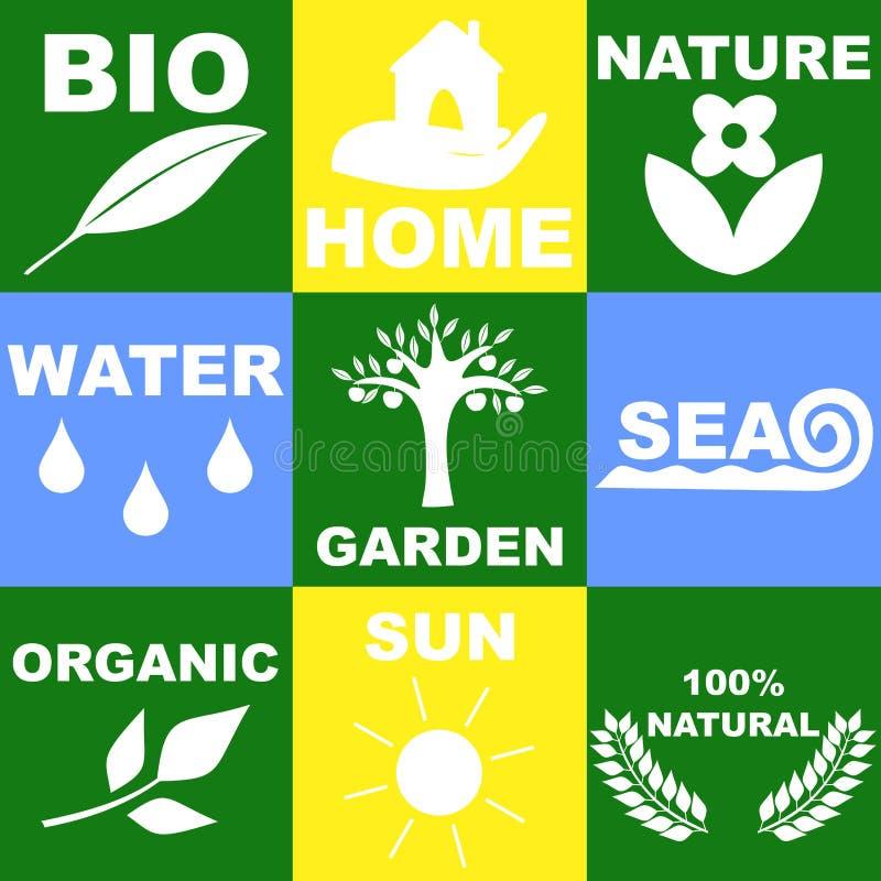 logo på temat av naturen vektor illustrationer