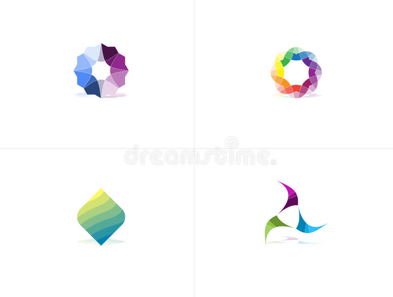 Logo Package astratto variopinto immagini stock