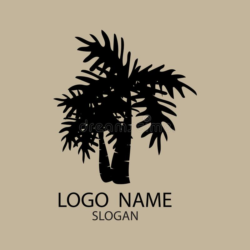 Logo of palm and coconut trees. vector illustration