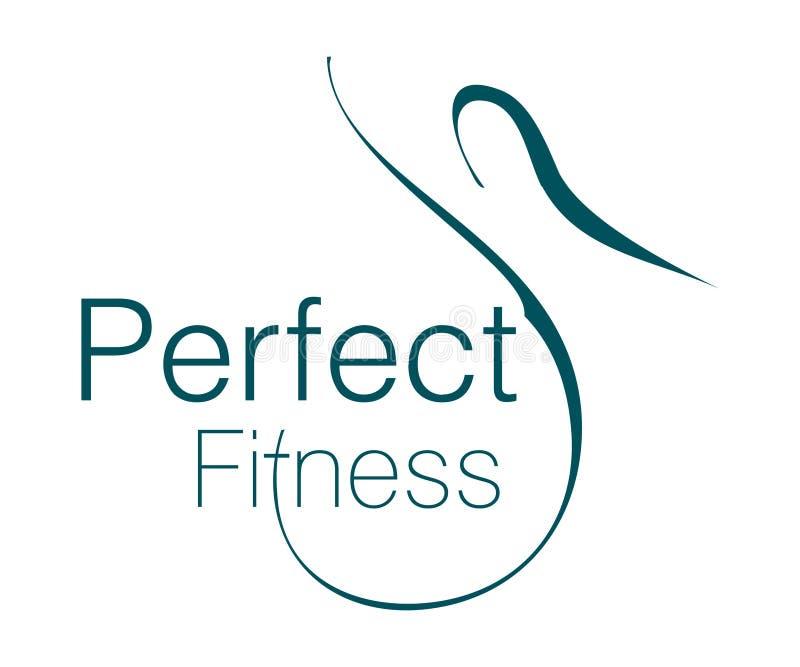 Logo parfait de forme physique illustration stock