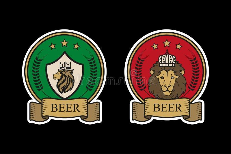 Logo per birra royalty illustrazione gratis