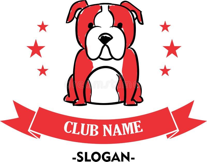 Logo per il club sicuro del cane illustrazione di stock