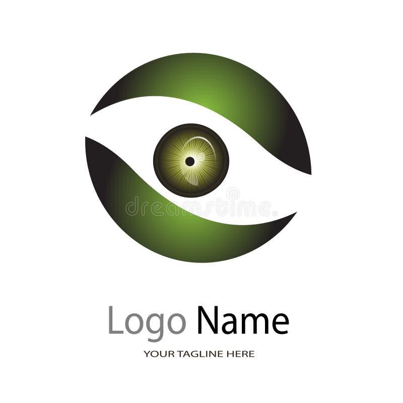 Logo per l'ospedale dell'occhio/logo dell'illustrazione del centro cura dell'occhio/clinica di occhio su fondo bianco illustrazione vettoriale