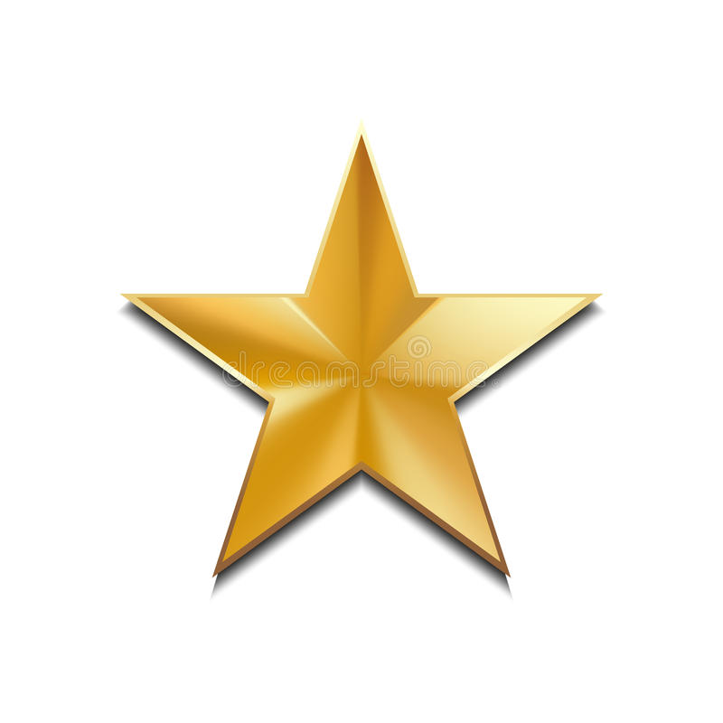 Logo per la vostra progettazione, illustrazione della stella d'oro di vettore illustrazione vettoriale